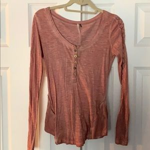 Free People Rose Colored Long Sleeve